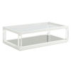 This item: Avondale Linen White Riverdale 58-Inch Cocktail Table