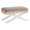 This item: Avondale Brown and White Vaughan 32-Inch Ottoman