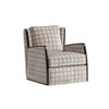This item: Carlyle Brown and Cream Delancey Swivel Chair
