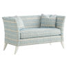 This item: Avondale Blue and White Hampstead 60-Inch Settee
