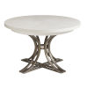 This item: Ocean Breeze White Marsh Creek Round Dining Table