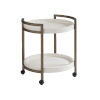 This item: Ocean Breeze White Osprey Cart End Table