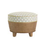 This item: Twin Palms Brown, White and Blue Lago Mar Ottoman
