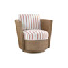 This item: Twin Palms Brown, White and Red Tarpon Cay Swivel Chair