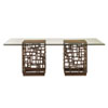This item: Ocean Club Brown South Sea Dining Table with 84 In. x 48 In. Glass Top