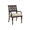This item: Royal Kahala Mahogany and Ivory Molokai Arm Chair