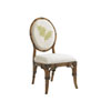 This item: Bali Hai Brown, Ivory and Green Gulfstream Oval Back Side Chair