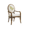 This item: Bali Hai Brown, Ivory and Green Gulfstream Oval Back Arm Chair