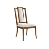 This item: Bali Hai Brown and Ivory St. Barts Splat Back Side Chair