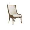 This item: Bali Hai Brown and Ivory Marabella Upholstered Side Chair