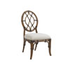 This item: Bali Hai Brown and Ivory Cedar Key Oval Back Side Chair