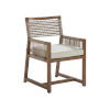 This item: St Tropez Natural Teak Weather Resistant Aluminum Arm Dining Chair