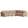 This item: Los Altos Valley View Brown Sectional