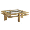 This item: Los Altos Valley View Brown Square Cocktail Table