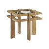 This item: Los Altos Valley View Brown Square End Table