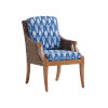 This item: Harbor Isle Brown and Blue Arm Chair