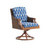 This item: Harbor Isle Brown and Blue Swivel Rocker Arm Dining Chair