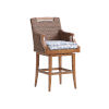 This item: Harbor Isle Brown and Blue 30-Inch Bar Stool
