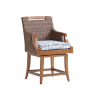 This item: Harbor Isle Brown and Blue 24-Inch Counter Stool