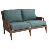 This item: Harbor Isle Brown and Blue Loveseat
