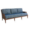 This item: Harbor Isle Brown and Blue Sofa