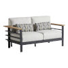 This item: South Beach Dark Graphite and White Loveseat