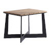 This item: South Beach Dark Graphite and Light Brown Square End Table
