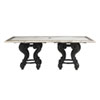 This item: Kingstown Sedona Ebony and White Dining Table with Stone Top