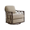 This item: Royal Kahala Black Sands Dark Brown and Beige Swivel Chair