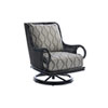 This item: Marimba Black and Gray Swivel Rocker Lounge Chair