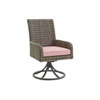 This item: Cypress Point Ocean Terrace Brown and Red Arm Dining Chair Swivel Rocker
