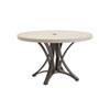 This item: Cypress Point Ocean Terrace Aged Iron and Ivory 48 In. Dining Table with Weatherstone Top