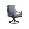 This item: Pavlova Graphite and Blue Swivel Rocker Dining Chair