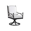 This item: Pavlova Graphite and White Swivel Rocker Dining Chair