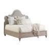 This item: Malibu Warm Taupe Zuma Upholstered Panel King Bed