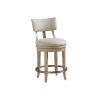 This item: Malibu Warm Taupe Cliffside Upholstered Counter Stool