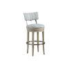 This item: Malibu Warm Taupe Cliffside Swivel Upholstered Bar Stool