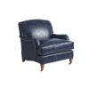 This item: Upholstery Blue Sydney Leather Chair With Brass Caster