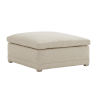 This item: Upholstery Linen White Colony Ottoman