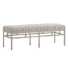 This item: Upholstery Soft Linen 53-Inch Lucca Metal Bench
