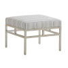 This item: Upholstery Linen White Lucca Metal Ottoman