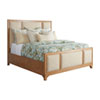 This item: Newport Sandstone and Beige Crystal Cove Upholstered California King Panel Bed