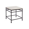 This item: Newport White Breakwater Metal And Stone Lamp Table