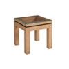 This item: Newport Brown Harbor Raffia Lamp Table