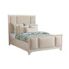 This item: Newport Beige Crystal Cove Upholstered King Panel Bed