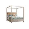 This item: Newport Sailcloth Shorecliff California King Canopy Bed