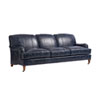 This item: Upholstery Blue Sydney Leather Sofa With Brass Caster