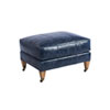 This item: Upholstery Blue Sydney Leather Ottoman With Brass Caster