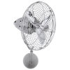 This item: Bruna Parede Brushed Nickel 13-Inch Directional Wall Fan with Metal Blades