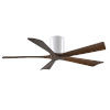 This item: Irene-H 5 Gloss White 52-Inch Hugger-Style Ceiling Fan with Walnut Tone Blades